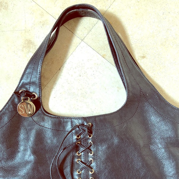 Stuart Weitzman Handbags - Stuart Weitzman black leather purse